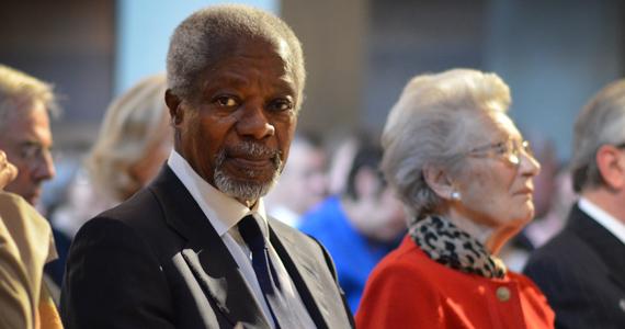 Kofi Annan and Raoul Wallenberg's younger sister Nina Lagergren