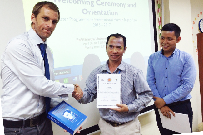 Human Rights teaching in Cambodia
