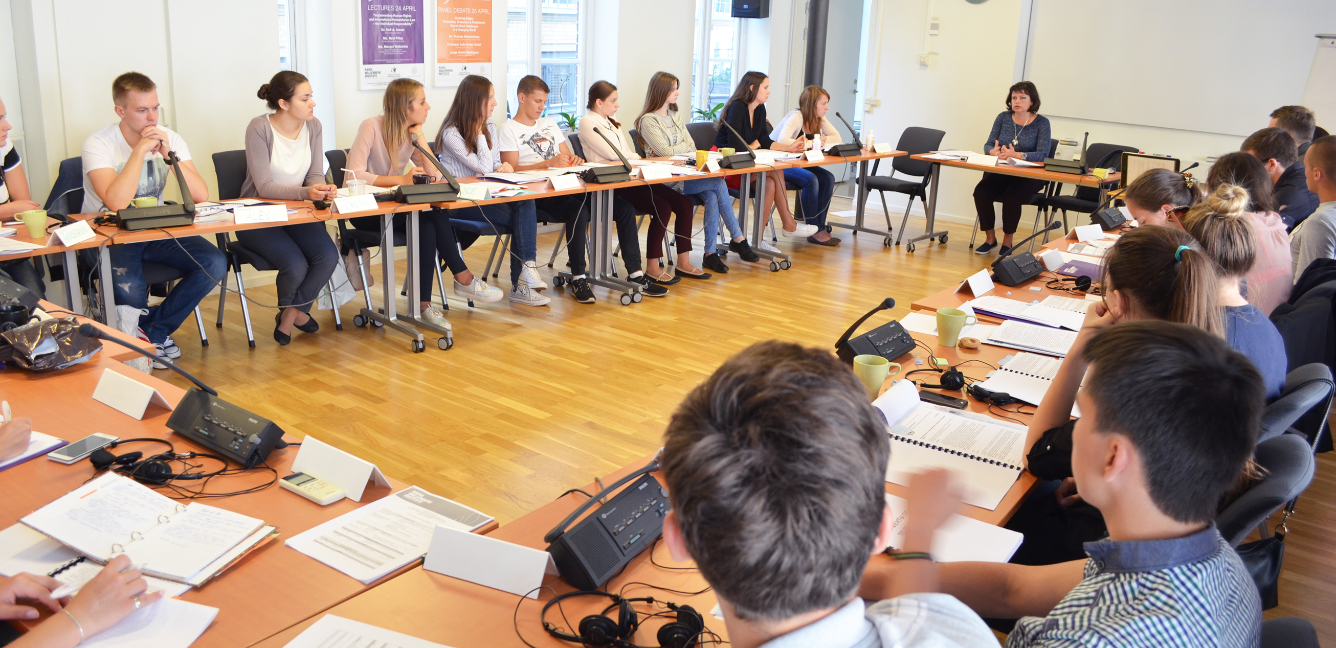 Belarusian students attend summer course on human rights in Lund.