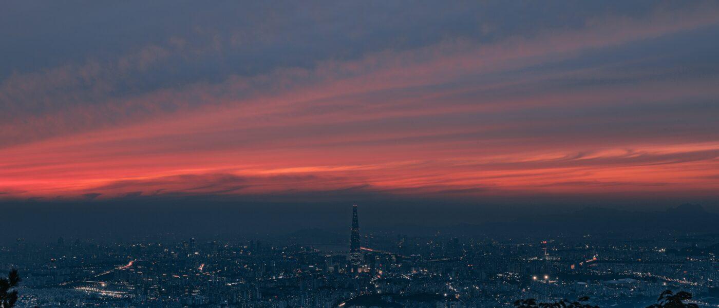 gwangju city dusk