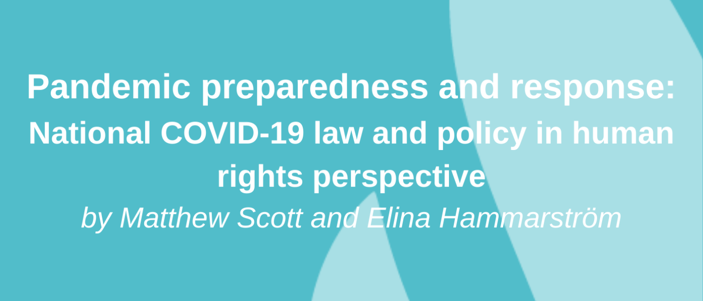 COVID19 Law and Policy