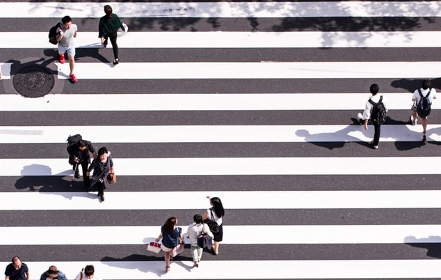crosswalk people